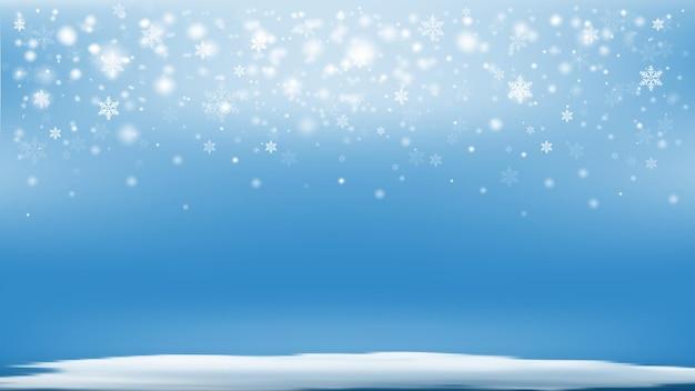 Schneeflocke mit weihnachtshintergrund-vektorillustration