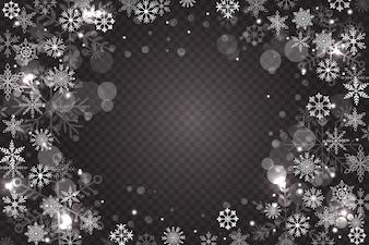 Schneeflocke-Overlay-Hintergrund