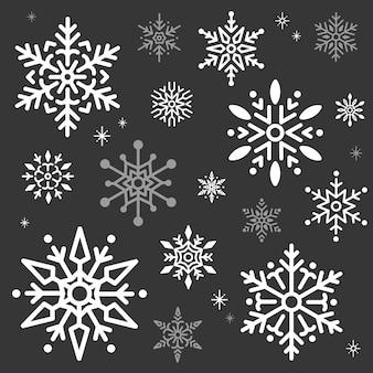 Schneeflocke-weihnachtsdesign-hintergrundvektor