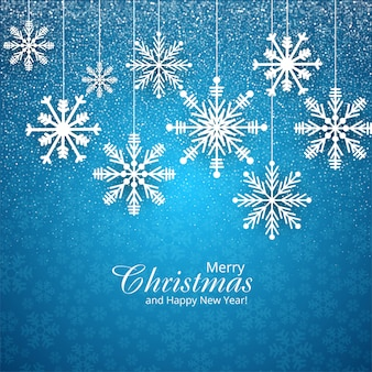 Schneeflockekarte für blau der frohen weihnachten