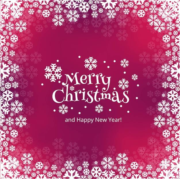 Schneeflockekartenhintergrund der frohen weihnachten