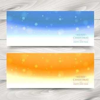 Schneeflocken abstrakt banner