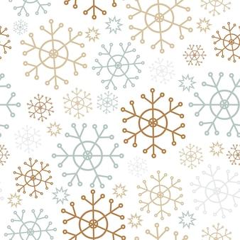 Schneeflocken einfache weihnachten nahtlose muster eine sammlung von retro-textilien