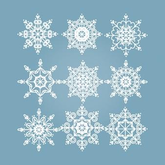 Schneeflocken entwirft kollektion