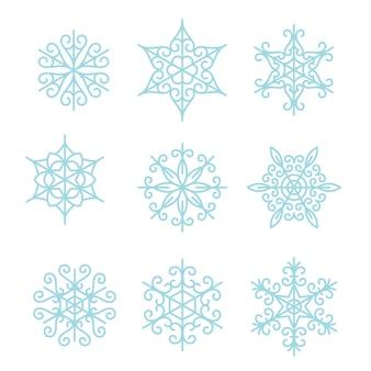 Schneeflocken gesetzt