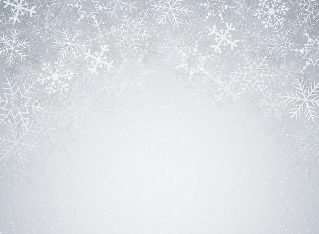 Schneeflocken im weihnachtsfest thema