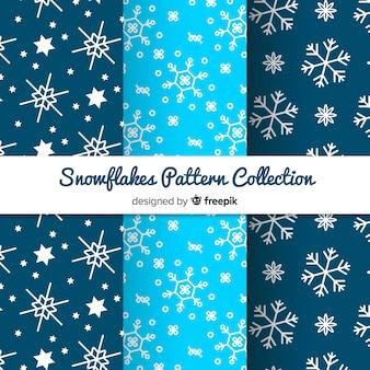 Schneeflocken-muster-kollektion