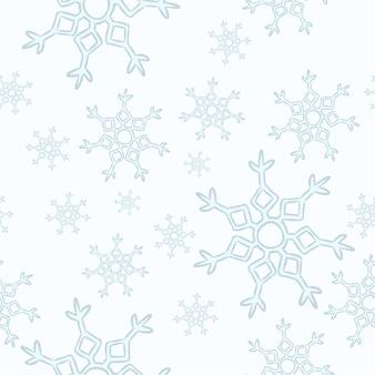 Schneeflocken nahtlose muster