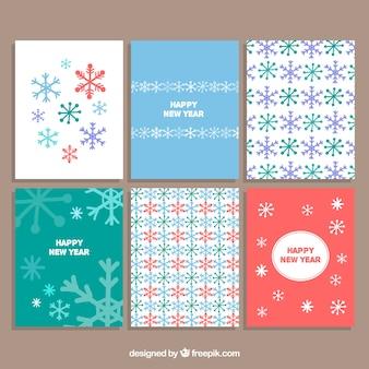Schneeflocken nette weihnachtskarte