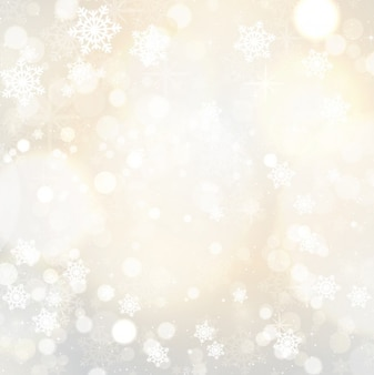 Schneeflocken und sterne hintergrund