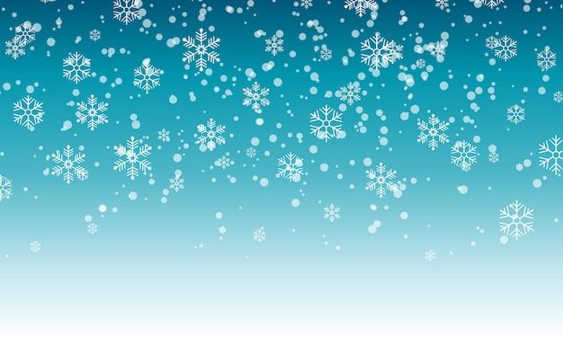 Schneeflocken vom himmel fallen