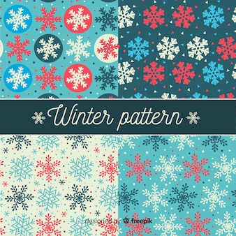 Schneeflocken winter muster pack