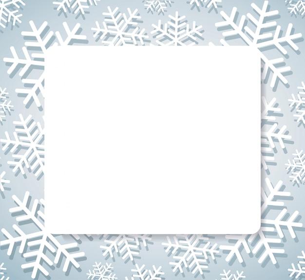 Schneeflockenfahne für web weihnachtskonzepthintergrund