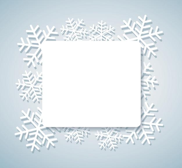 Schneeflockenfahne für webhintergrund