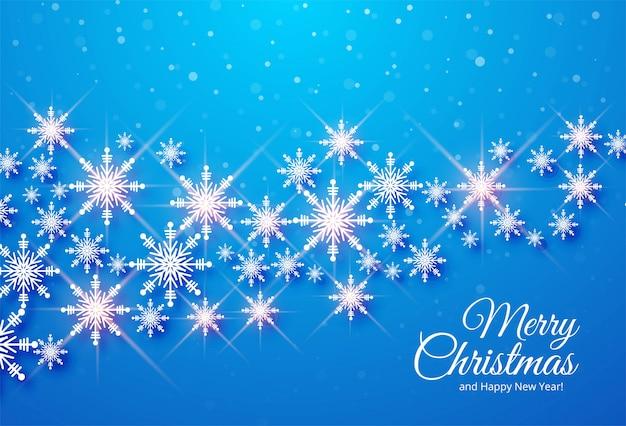 Schneeflockenfeier-kartenhintergrund der frohen weihnachten