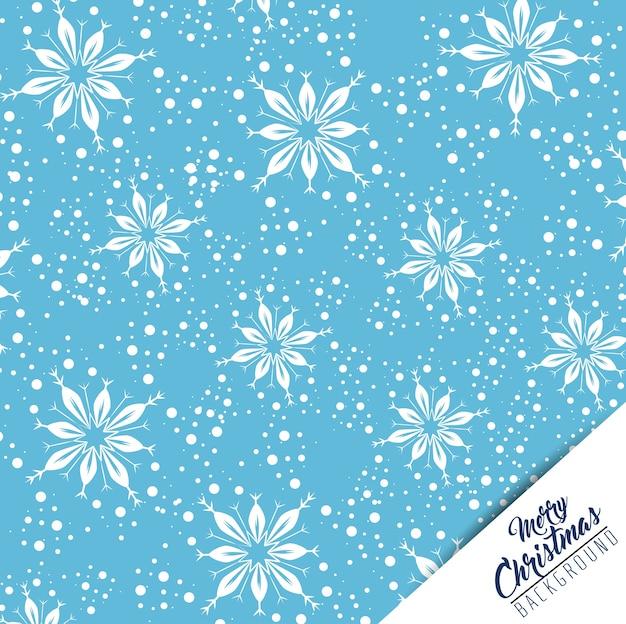 Schneeflockenhintergrund der frohen weihnachten