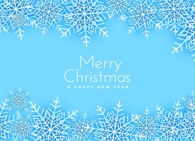 Schneeflockenhintergrunddesign der frohen weihnachten