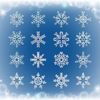 Schneeflockensammlung