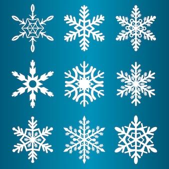 Schneeflockenwintersaisonvektorweihnachtsschnee-feiertag kalte eisflockensymbolillustration