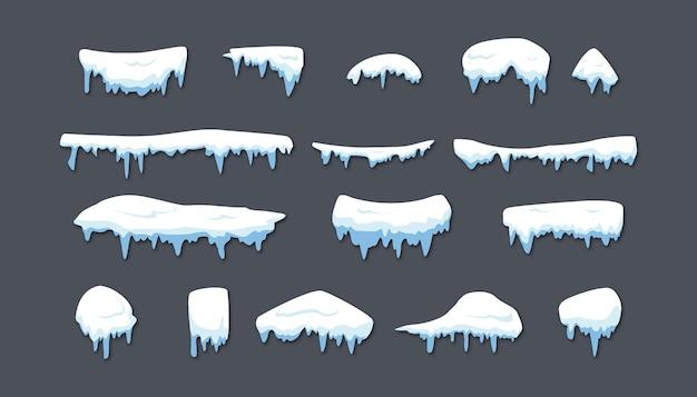Schneekappe im winter
