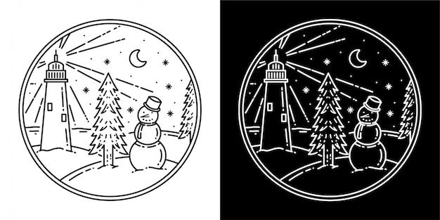 Schneemann-abzeichen-design