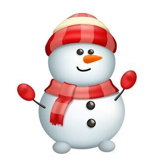 Schneemann isoliert auf weiß