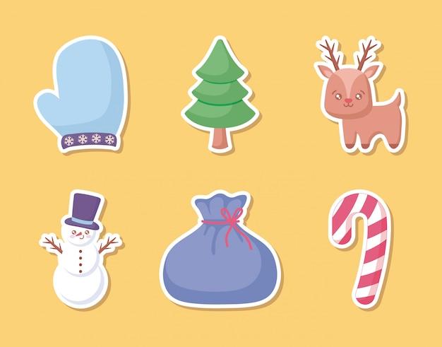 Schneemann mit satz weihnachten
