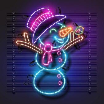 Schneemann-neon-design.
