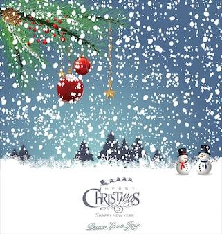 Schneemann-weihnachtskarte