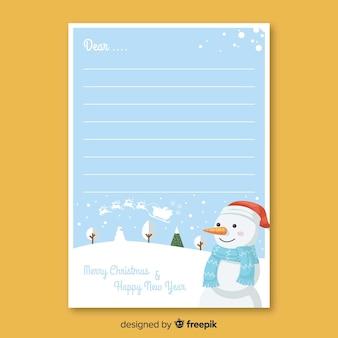 Schneemann weihnachtsumschlag