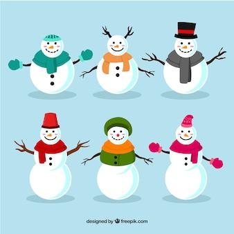 Schneemannpackung mit winterkleidung