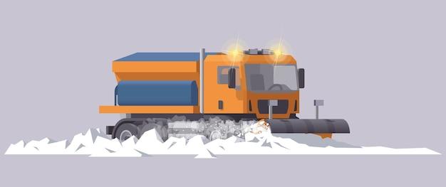 Schneeräumer. schneeräumung. salzstreuer. illustration