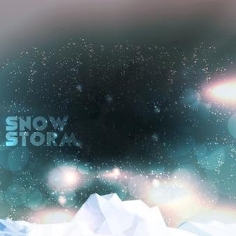 Schneesturm hintergrund