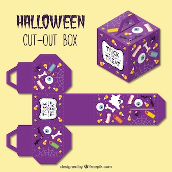 Schneiden sie halloween-box