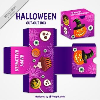 Schneiden sie mit halloween-elemente