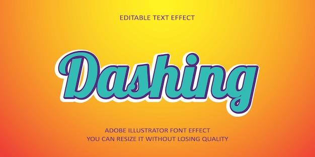 Schneidiger text-effekt