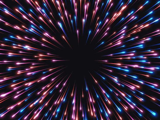 Schnelle geschwindigkeit. abstrakter explosionshintergrund.