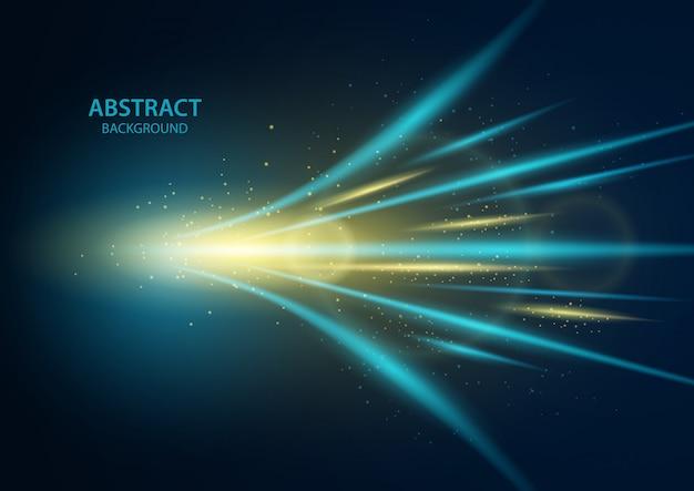 Schnelle geschwindigkeit. abstrakter technologiehintergrund. illustration