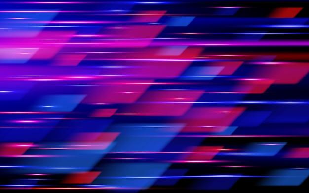 Schnelle geschwindigkeit. hi-tech. blauer und roter abstrakter technologiehintergrund.