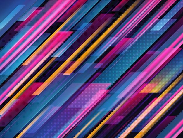 Schnelle geschwindigkeit. hightech. abstrakter technologiehintergrund. vektor-illustration