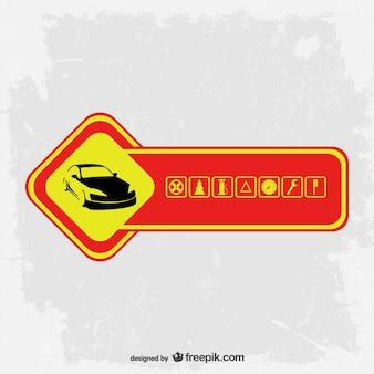 Schnelle lieferung frei-logo-vorlage