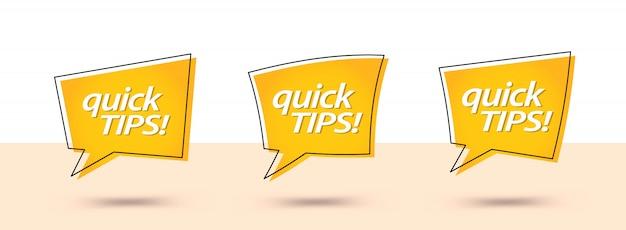 Schnelle tipps, hilfreiche tricks banner
