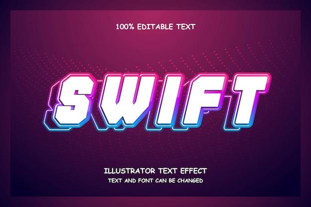 Schneller, bearbeitbarer texteffekt im modernen stil