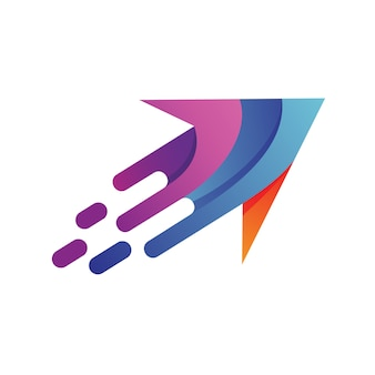 Schneller pfeil logo vektor