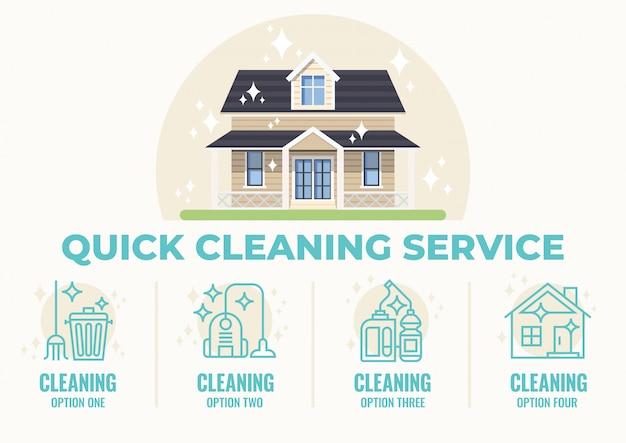 Schneller reinigungsservice