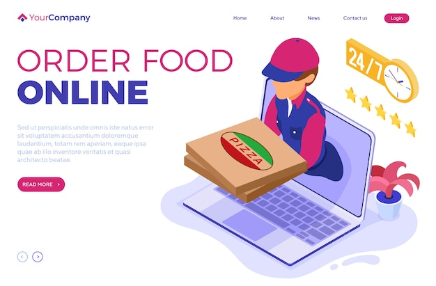 Schneller und kostenloser online-bestell- und paketzustelldienst. fast-food-versand.
