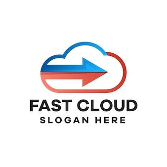 Schnelles logo-design mit wolkenverlauf