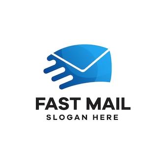 Schnelles mail-farbverlauf-logo-design
