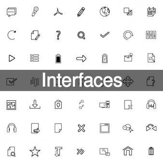 Schnittstellen symbole für design