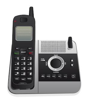 Schnurloses telefon getrennt über weißem hintergrundvektor
